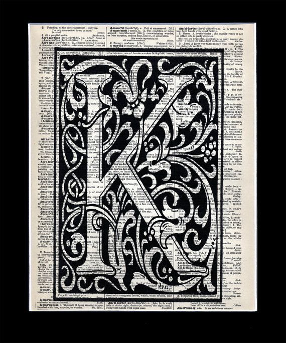This K is a very good example of the enclosed M that I'm looking for, and it being over print is cool, though it may be hard to see the MegMarie, if we do that. Thoughts?