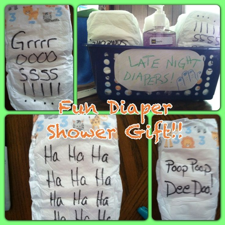 Things To Do With Diapers For A Baby Shower: Great Baby Shower Gift Idea! Write Funny Sayings On The