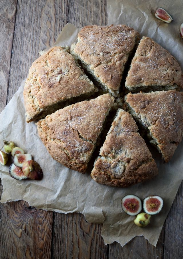 Fig and Cardamom Scones, a super flavorful and unique baked good that can be eaten for weekday breakfast or served to guests for weekend brunch. Fig season has begun, and this is my first recipe using