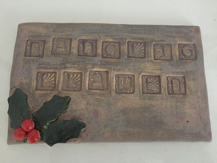 Nadolig Llawen ceramic plaque