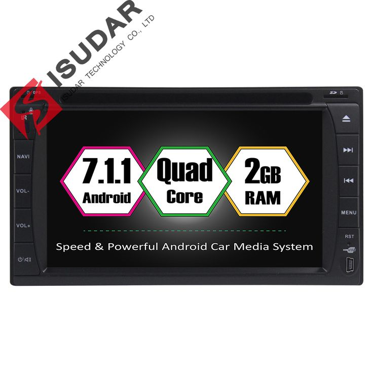 Android 7.1.1 Two Din 6.2 Inch Universal Car DVD Player Quad Core RAM 2G ROM 16G WIFI GPS Navigation Radio FM USB/SD Bluetooth //Price: $288.89 & FREE Shipping //     #android