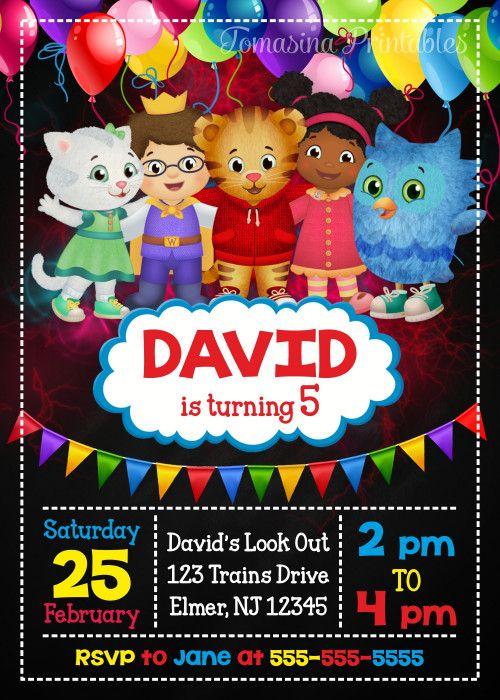 DANIEL TIGER INVITATION Daniel Tiger Birthday Party Boy's Birthday Invitation Daniel Tiger Invite #danieltiger #boysbirthday #birthdayinvitation #birthdayinvite #birthdayparty