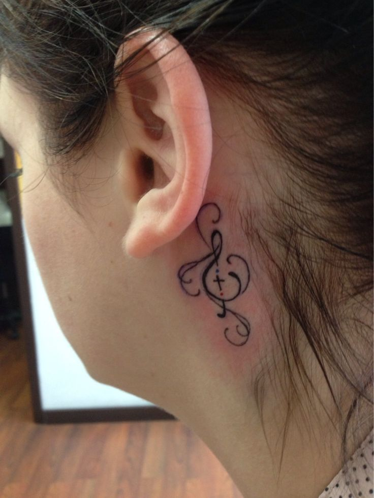 17 Best images about Tatoos on Pinterest | Christian music ... Jesus Fish Tattoo Behind Ear