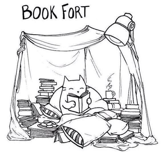 Reminds me of childhood, building indoor blanket forts and reading.