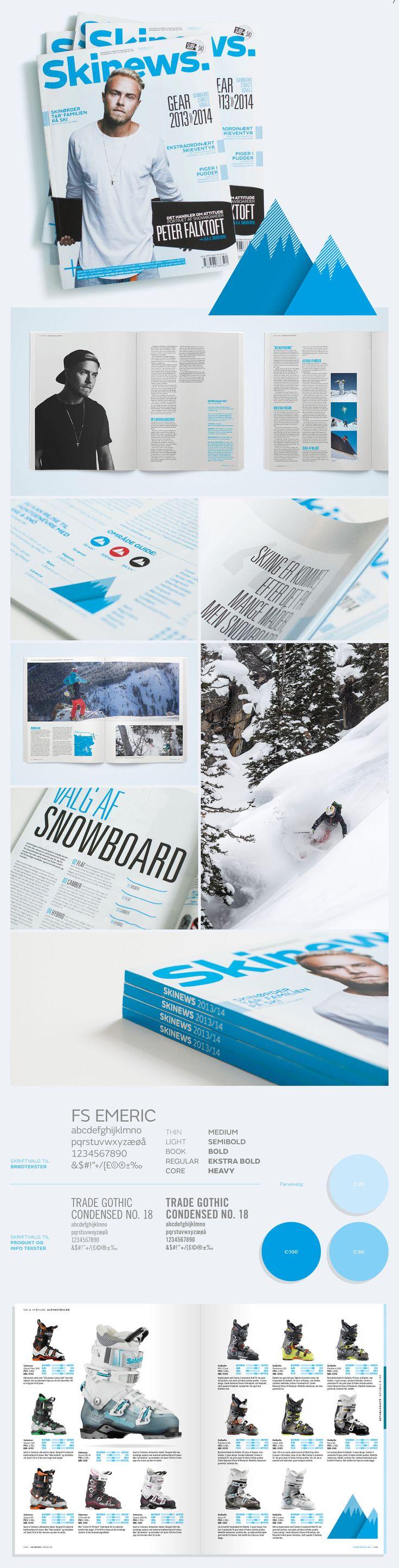 Surf og Ski. Skimagasinet Skinews fik et markant visuelt og redaktionelt løft.