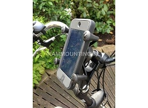 RAM Mount EZ-Strap met X-Grip smartphonehouder #fiets. Ook met Otterbox Defender