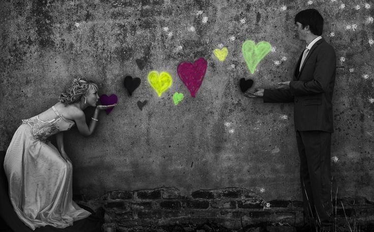 This photo was taken before the matric farewell (Prom), they had this idea of blowing hearts on a wall.