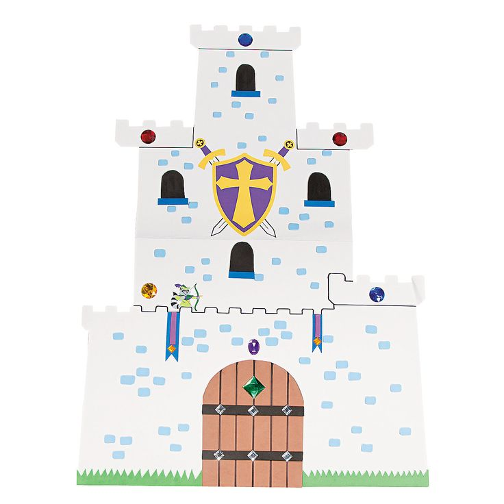 DIY Giant Castles - OrientalTrading.com - create a castle backdrop?