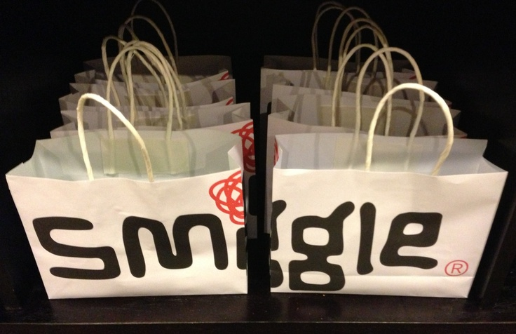 Gift bags filled with Smiggle goodies for the party guests