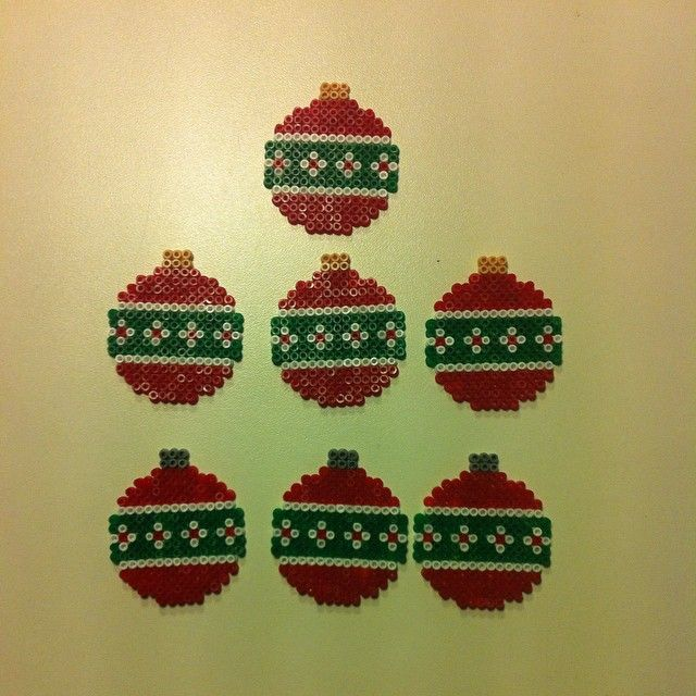 Christmas baubles hama mini beads by pernilleqvist84