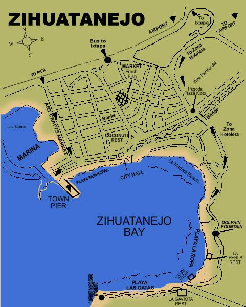zihuatanejo | Local Information - Ixtapa Zihuatanejo - Orientation, maps