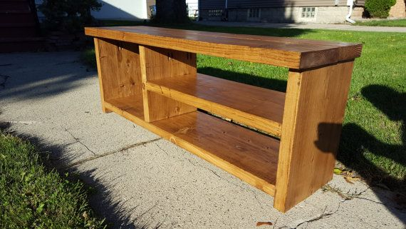 48 Entryway Shoe Bench  Early American by BadgerwoodCreations