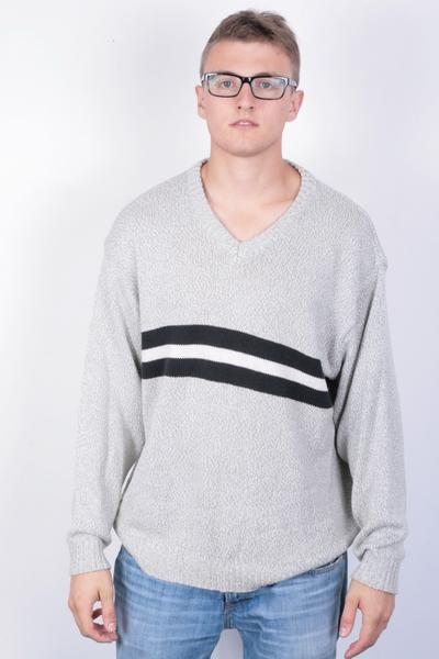 John F.Gee Jeanswear Mens 56/58 3XL Grey Jumper Sweater - RetrospectClothes
