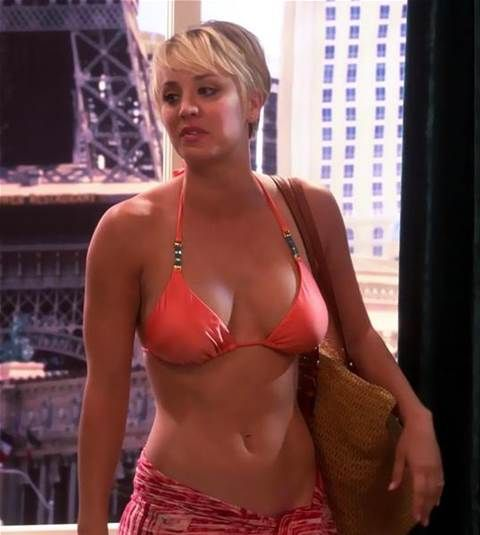 """Christine Baranski Big Bang Theory Porn - """"Kaley Cuoco showing off those abs with a wrap going about as low as it can  without…"""