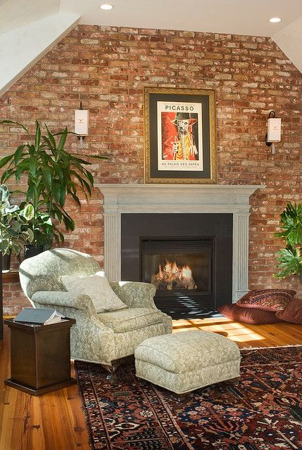 1000 Ideas About Exposed Brick Fireplaces On Pinterest