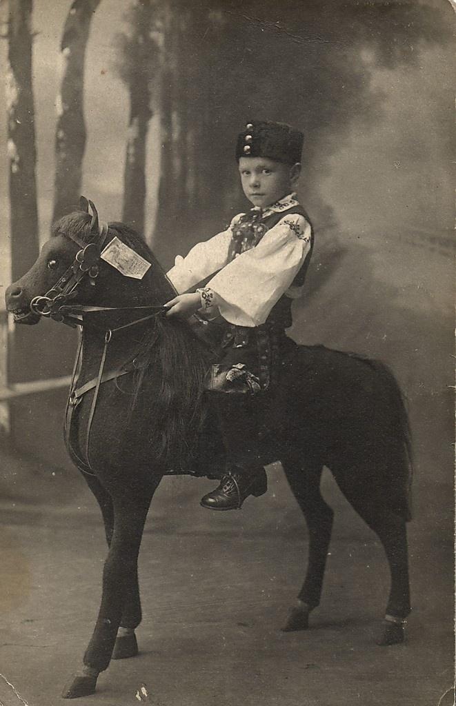 Russian Boy Riding Toy Horse Pony Vintage Photo Postcard 1910S   eBay