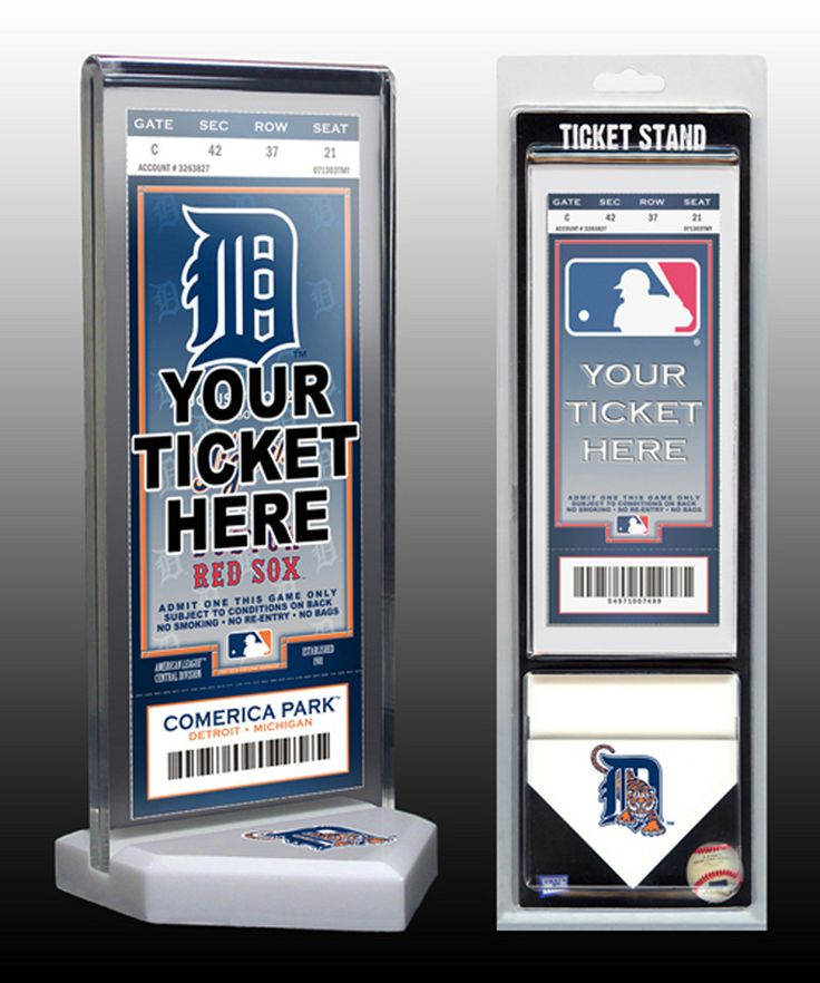 That's My Ticket Detroit Tigers Ticket Stand