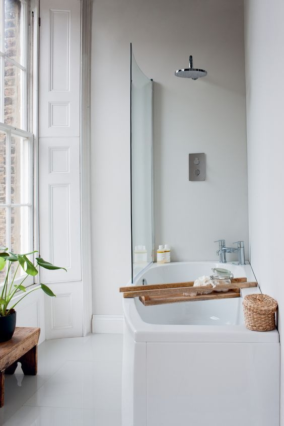 HOUSE BEAUTIFUL ~ Elegant Bathroom.  Get started on liberating your interior design at Decoraid  https://www.decoraid.com