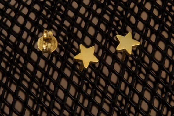 Silver star studs 925 sterling silver Gold star studs Tiny