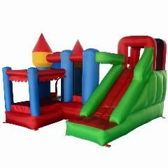 [ $27 OFF ] Yard Bounce House Slide With Ball Pit Mini Home Use Trampoline For Kids Birthday Party Special Offer For Middle East