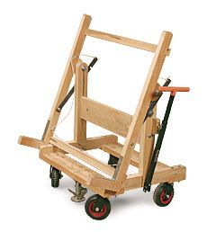 Plywood cart woodworking projects plans for Sheet goods cart