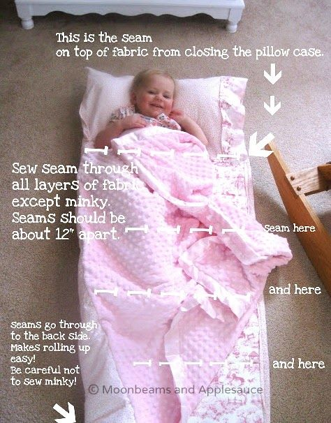 Moonbeams and Applesauce: Moonbeam's Nap Mat Tutorial