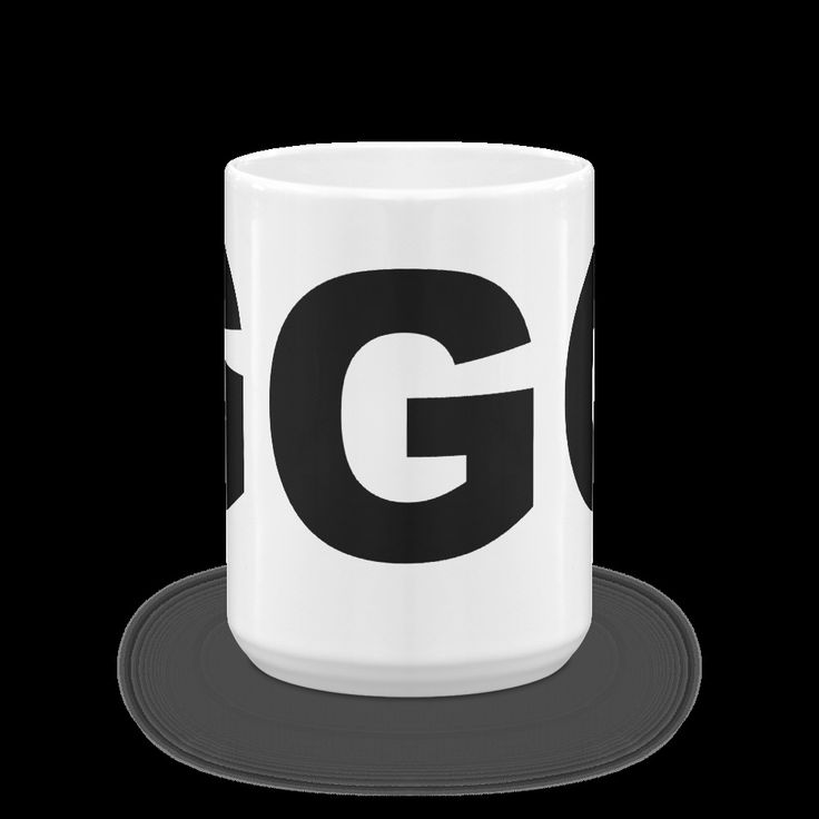 G Block Letter Initial Coffee Mug 11 oz or 15 oz  - Monogram Mug - Tea Mug