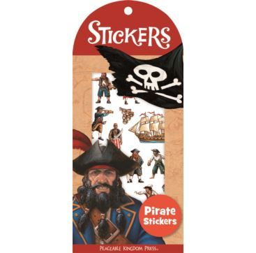 Mini Stickers Pirates - Bobangles #PeaceableKingdom #stickers #pirate #kids