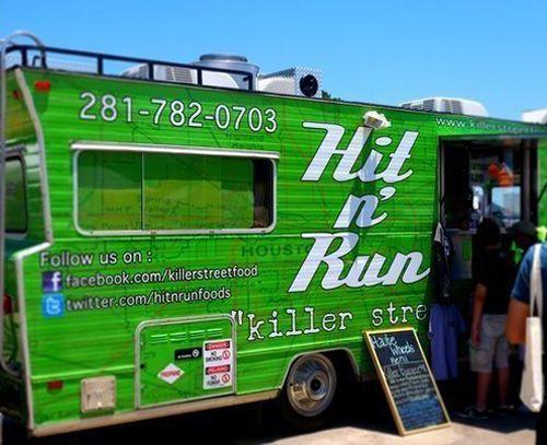 Hit n' Run bright green Winnebago food truck | Inspiration ...