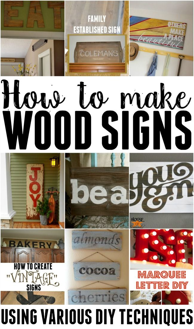 Learn how to make wood signs using various different methods. | popular pin