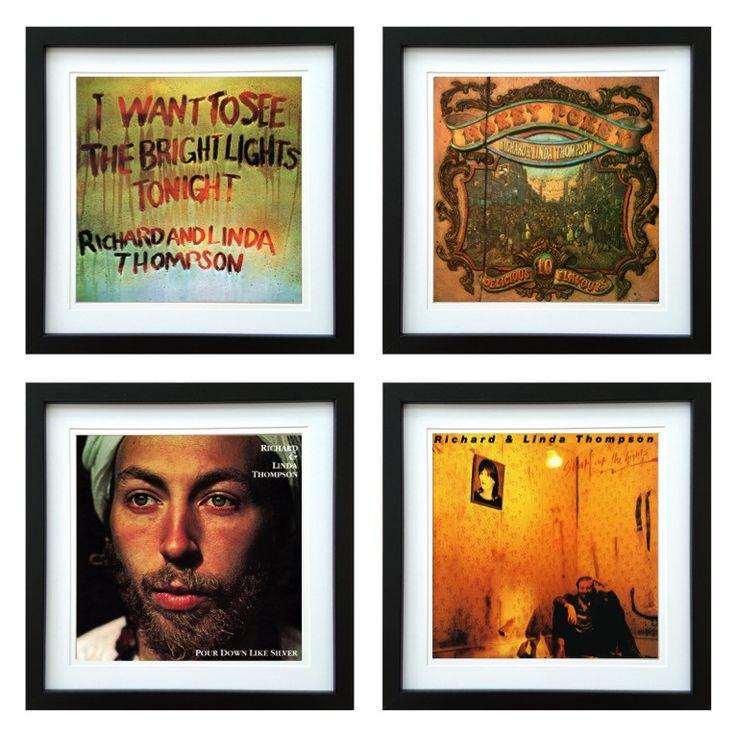 Richard & Linda Thompson | Framed Album Art Set of 4 Images | ArtRockStore