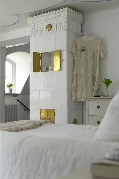 swedish porcelain fireplace