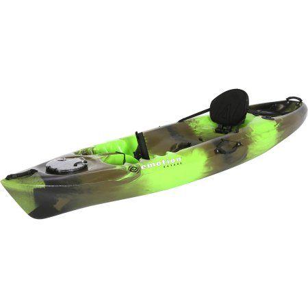 Emotion Stealth Angler Kayak, Camo, Green