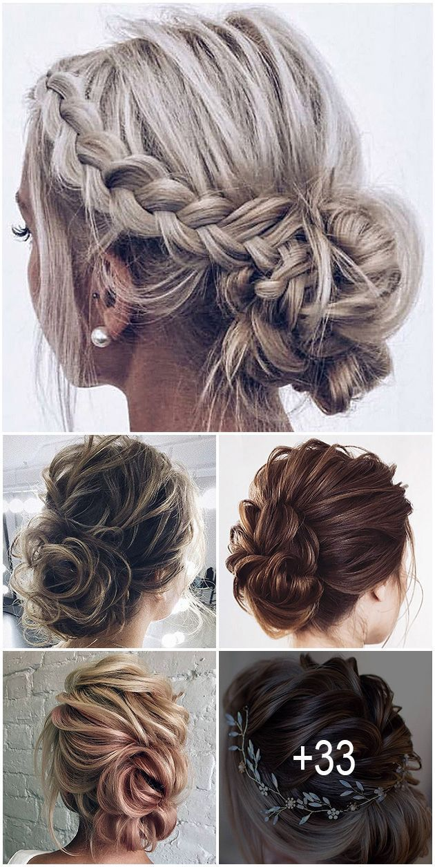33 Wedding Updos For Short Hair The Most Popular Among Brides Are Wedding Updos For Short Hair They Look Sty Short Hair Updo Short Hair Lengths Hair Styles