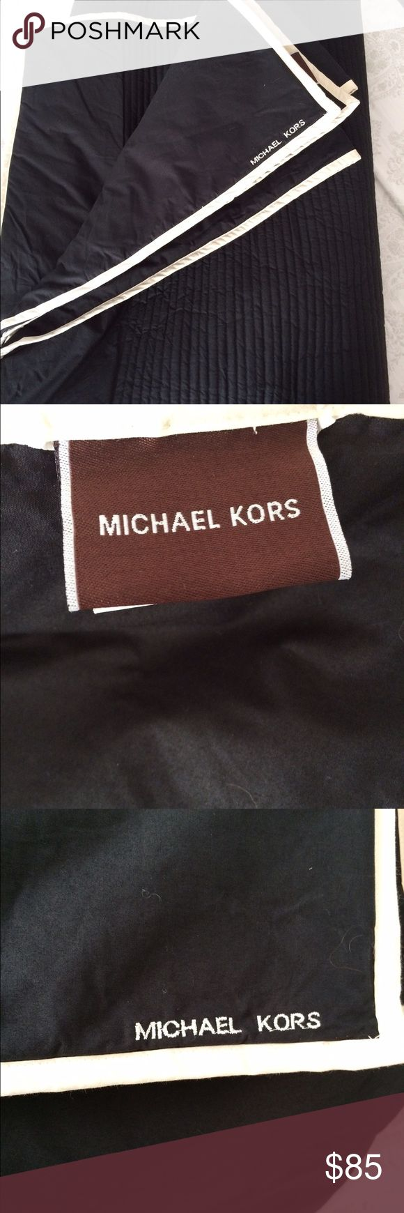 Michael Kors King Size Coverlet - NWOT! Michael Kors  King Size Coverlet Blanket New without tags - never used! Black with beige trim  Retail $250 Michael Kors Other