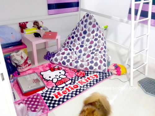 My bedroom with some stuffs from IKEA and hello kitty stuffs and a lot of pink stuffs | The Strawberry Tales