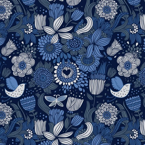 Patterns by Julia Grigorieva, via Behance