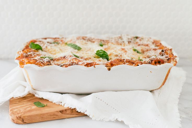Our roasted vegetable lasagna is a healthy, hearty meal that's sure the delight veggie lovers and meat eaters alike! Find the recipe on our blog.