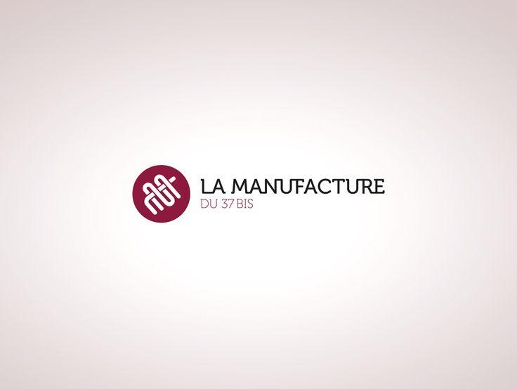 "Logo for ""La Manufacture du 37bis"" a tapestry formation center located in Paris. #graphic #design #logo http://www.lamanufacturedu37bis.org"