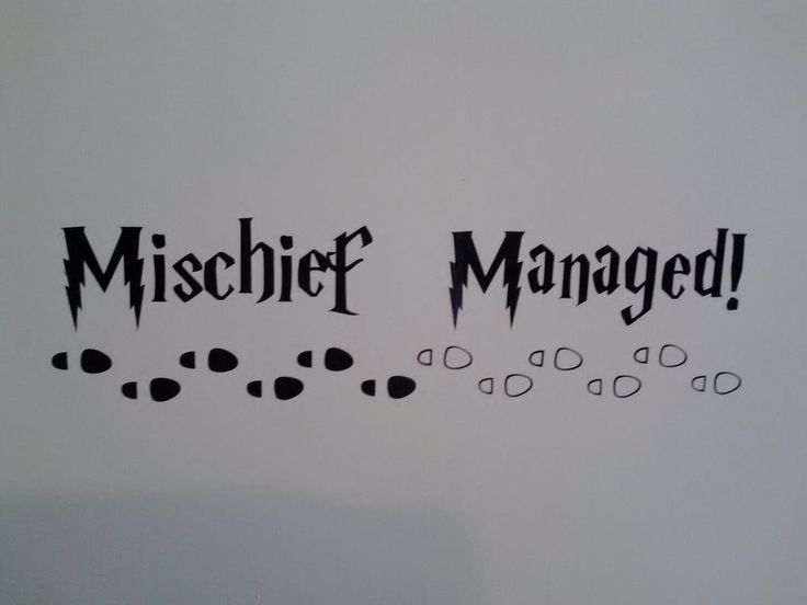 Harry Potter inspired, Mischief Managed decal sticker for wall, car, laptop, etc