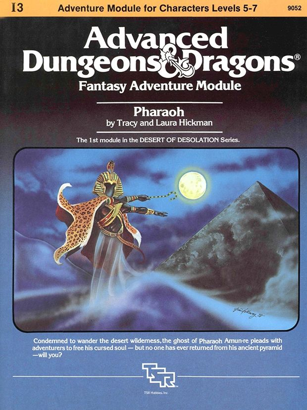 I3 Pharoah (1e) | Book cover and interior art for Advanced Dungeons and Dragons 1.0 - Advanced Dungeons & Dragons, D&D, DND, AD&D, ADND, 1st Edition, 1st Ed., 1.0, 1E, OSRIC, OSR, Roleplaying Game, Role Playing Game, RPG, Wizards of the Coast, WotC, TSR Inc. | Create your own roleplaying game books w/ RPG Bard: www.rpgbard.com | Not Trusty Sword art: click artwork for source