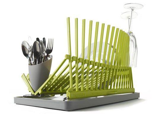 High: New Dish Rack That Folds Flat