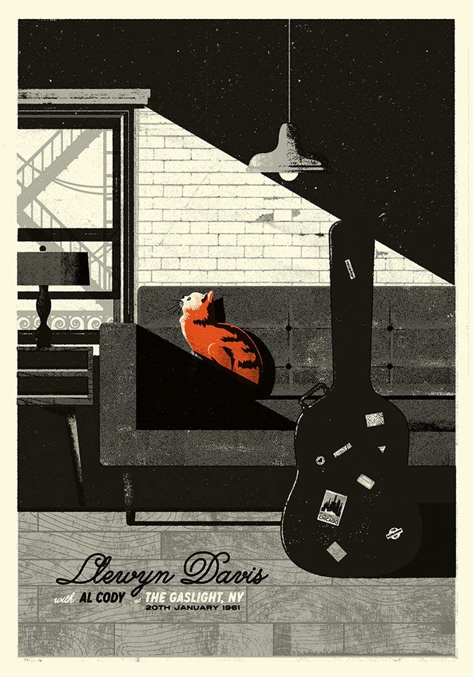 Inside Llewyn Davis (2013, The Coen Brothers) - A musician takes a tumble down the Penrose steps.