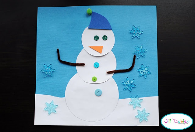 Made these in Sydney's Pre-Primary class as a Christmas Activity. Kinda funny doing snowmen when its 95 degrees outside!