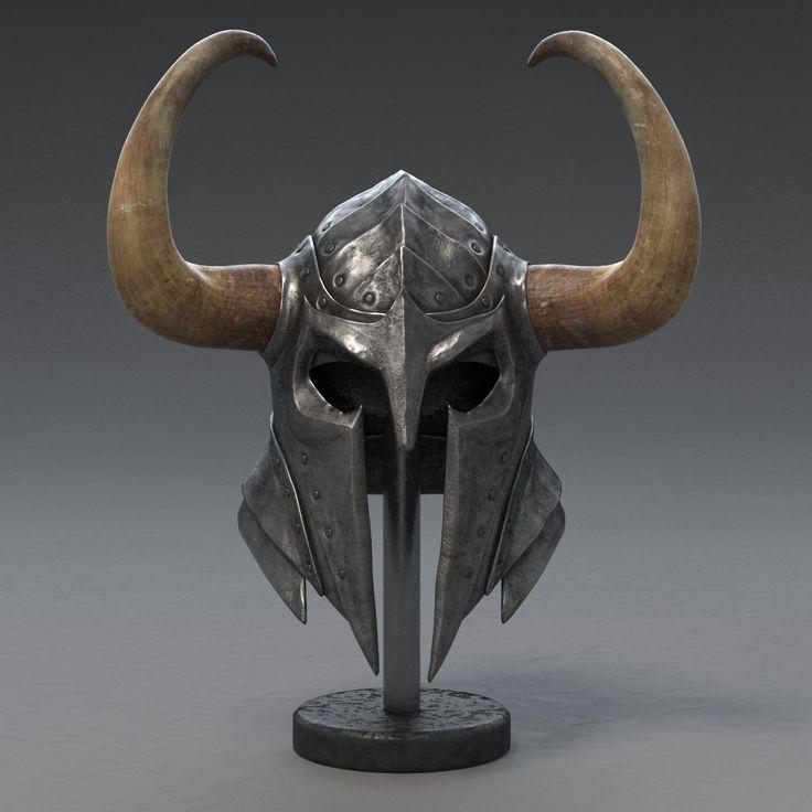 3d model of medieval knight helmet