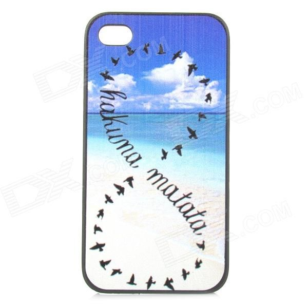 Color: White + Blue; Quantity: 1 Piece; Material: Plastic; Shade Of Color: White; Compatible Models: IPHONE 4; Design: Mixed Color,Graphic; Style: Back Cases; Packing List: 1 x Back case; http://j.mp/VIKfPx