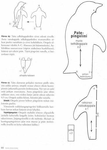 Выкройка пингвина