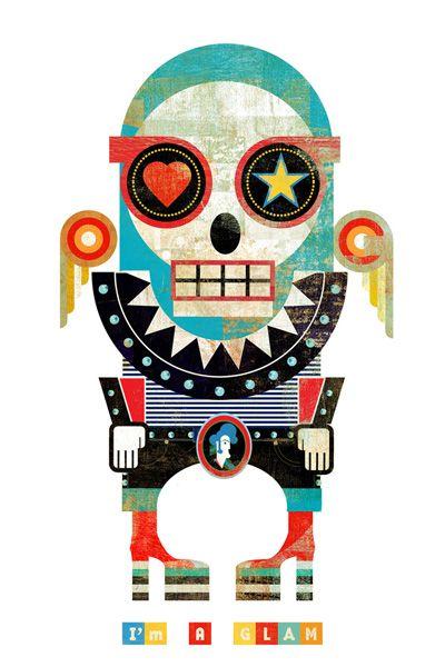 muerto: Skull, Montenegro Muertitos, De Christian, Skeletons Graphics, Graphics Illustration, Christian Montenegro, Art, Graphics Design, Graphics Posters