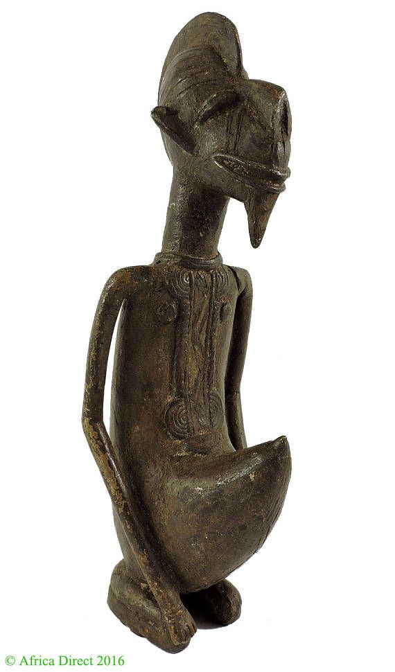 Dogon of Bambara messing geknield mannelijke Mali Afrikaanse kunst 110587