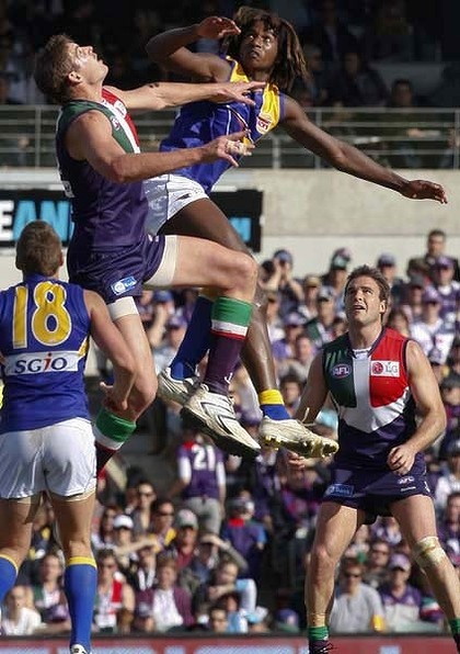 West Coast Eagles vs Fremantle Dockers AFL game Subiaco Oval, Perth WA